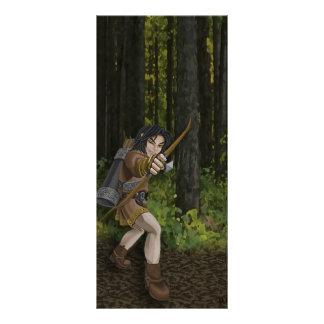 Cartão escuro da cremalheira do duende 10.16 x 22.86cm panfleto