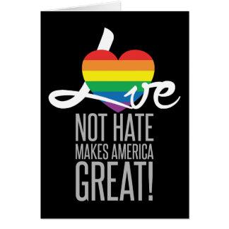 Cartão escuro do ódio do amor não (arco-íris)