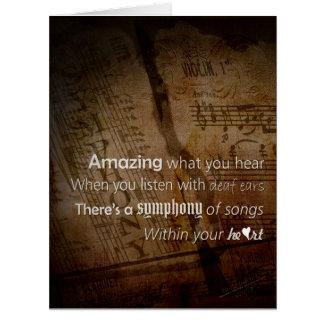 Cartão Escuta - a sinfonia do coração