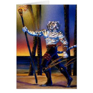 Cartão Escuteiro de Tigerian Werecat