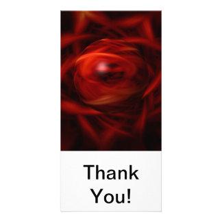 Cartão Esfera do fogo vermelho