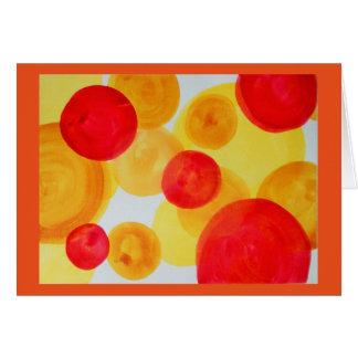 Cartão Esferas abstratas da aguarela