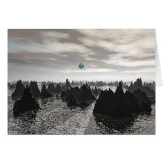 Cartão Esferas azuis misteriosas