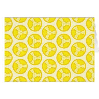 Cartão Esferas florais amarelas