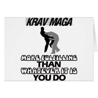 Cartão esfrie e tendendo o design do maga de Krav