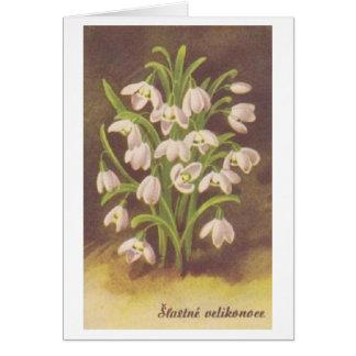 Cartão eslovaco/checo do vintage de páscoa