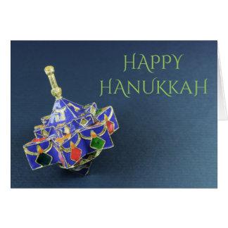 Cartão esmaltado estrela de David de Hanukkah do