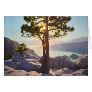Cartão esmeralda da rocha