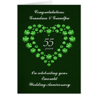 Cartão esmeralda do aniversário de casamento - 55