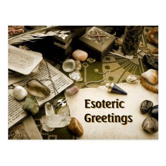 Cartão esotérico dos cumprimentos cartão postal