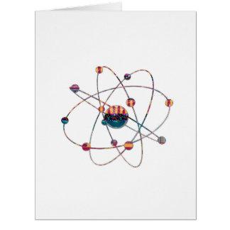 Cartão Espaço artístico do laboratório de ciência do