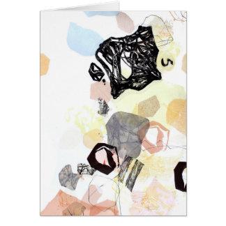 Cartão Espaço de informação de deslocamento da arte