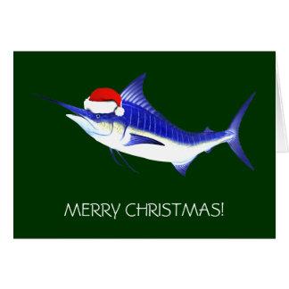 Cartão Espadim azul Papai Noel