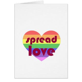 Cartão Espalhe o amor alegre