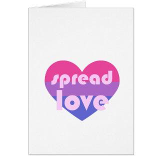 Cartão Espalhe o amor bissexual