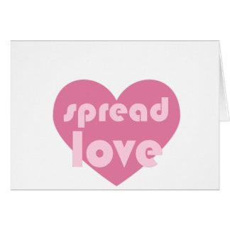 Cartão Espalhe o amor (geral)