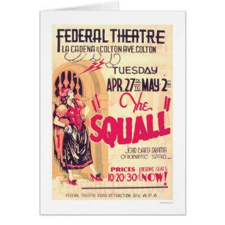 Cartão Espanha romântica do Squall WPA 1937
