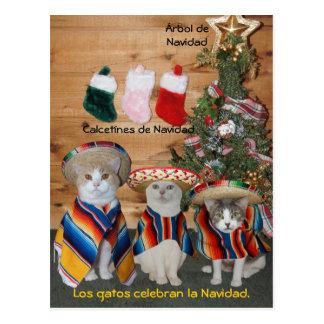 Cartão espanhóis do animal de estimação engraçado