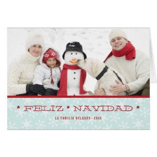 Cartão espanhol da foto do feriado dos flocos de