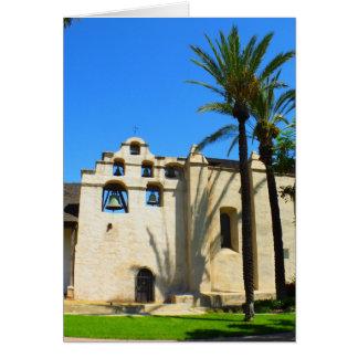 Cartão espanhol da missão - vazio para dentro
