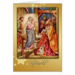 cartão espanhol da natividade do Feliz Natal