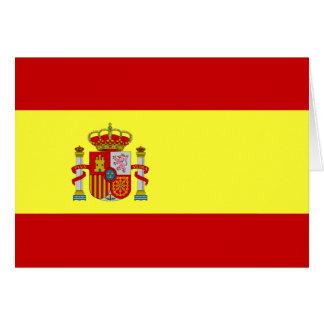 Cartão espanhol de Española da bandera da bandeira