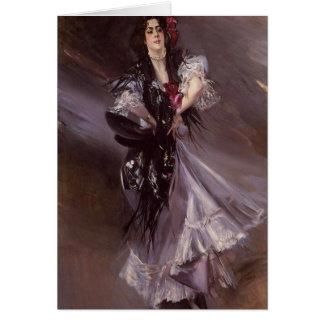 Cartão espanhol do dançarino