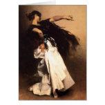 Cartão espanhol do dançarino de Sargent do cantor