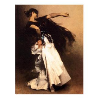 Cartão espanhol do dançarino de Sargent do cantor Cartao Postal