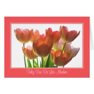 Cartão espanhol do dia das mães