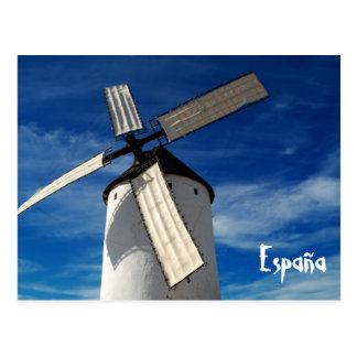 Cartão espanhol do moinho de vento