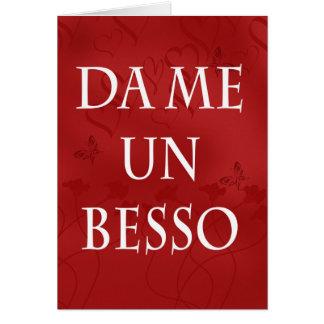 Cartão espanhol dos namorados - me beije no espanh