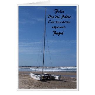 Cartão espanhol Feliz Diâmetro Del Padre do dia