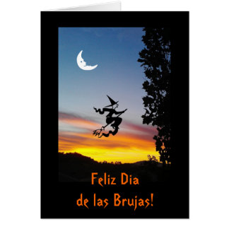 Cartão Espanhol: Haloween Diâmetro de las Brujas