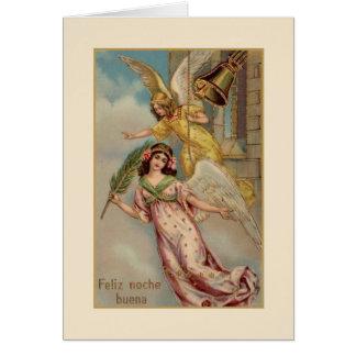 Cartão espanhol/latino-americano do Victorian de