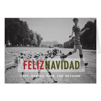 Cartão espanhol moderno da foto do feriado