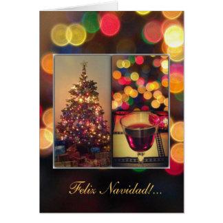 Cartão Espanhol: navideñas dos luces - luzes de Natal