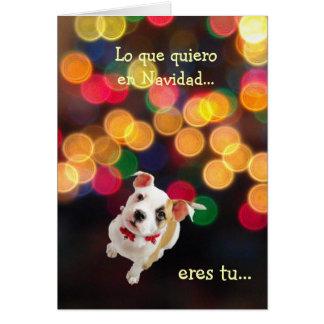 Cartão Espanhol: Tudo que eu quero para o Natal… é você