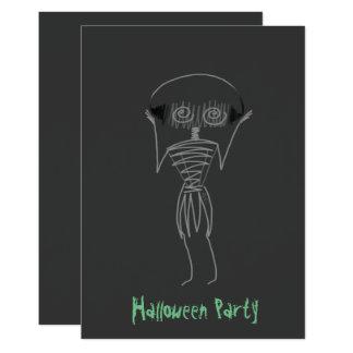 Cartão Espantalho do Dia das Bruxas