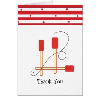 Cartão Espátulas vermelhas