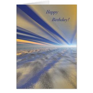 Cartão espectacular do feliz aniversario da arte