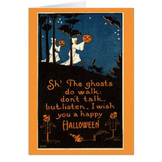 Cartão espectral do Dia das Bruxas