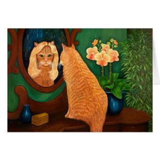 Cartão Espelho do espelho na parede