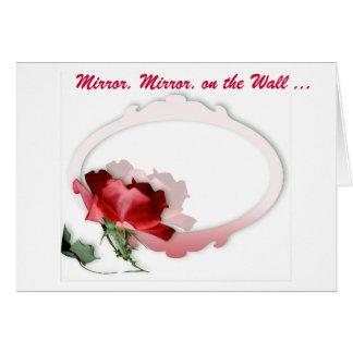 Cartão Espelho, espelho na parede