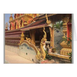 Cartão Espelho Wat em Chiang Mai, Tailândia