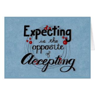 Cartão Espera contra a aceitação