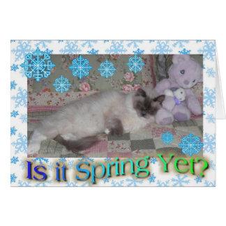 Cartão Espera para o primavera