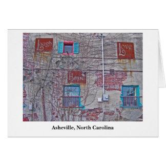 Cartão esperança Asheville do amor, Asheville, North