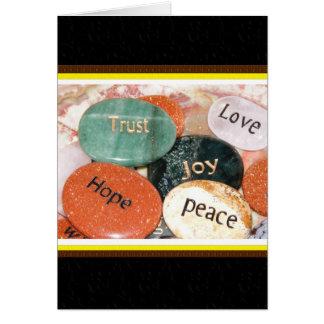 Cartão Esperança da paz da alegria da confiança do amor