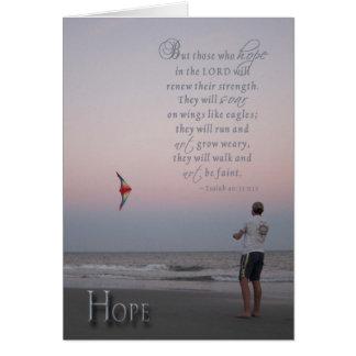 Cartão Esperança - incentivo para o paciente que sofre de